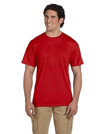 575bff22bef0 Gildan Mens DryBlend 5.6 oz 50/50 Pocket T-Shirt (G830)   Amazon.com