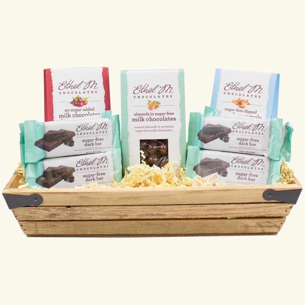 Sugar-Free Premium Chocolate Gift Crate