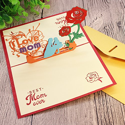 Beautiful 3D Pop Up Greeting Card For Mom Mothers Birthday And Day Gift Cards