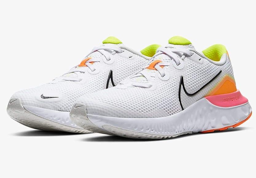 Nike Renew Run (GS), Zapatillas para Correr Unisex niños, White Black Platinum Tint Pink, 35 EU: Amazon.es: Zapatos y complementos