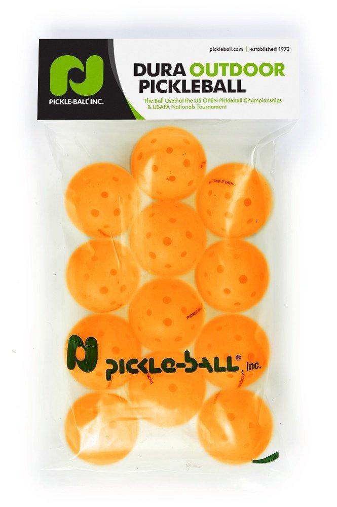 Pickleballs - 1 Dozen Orange Dura Pickleballs. by Pickle-Ball