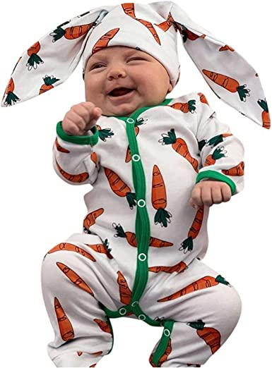 UK Infant Baby Boys Girls Rompers Long Sleeve Playsuit Jumpsuit Outfit Clothes