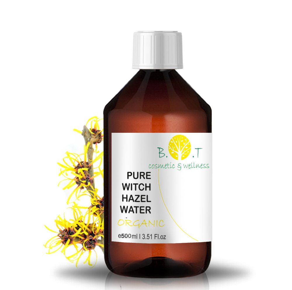 BIO-Blütenwasser Hydrolat Hamamelis - 500 ml HAMAMELIS BLÜTENWASSER Made in France