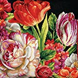 Wilton Dimensions Crafts Needlepoint Kit, Bouquet on Black
