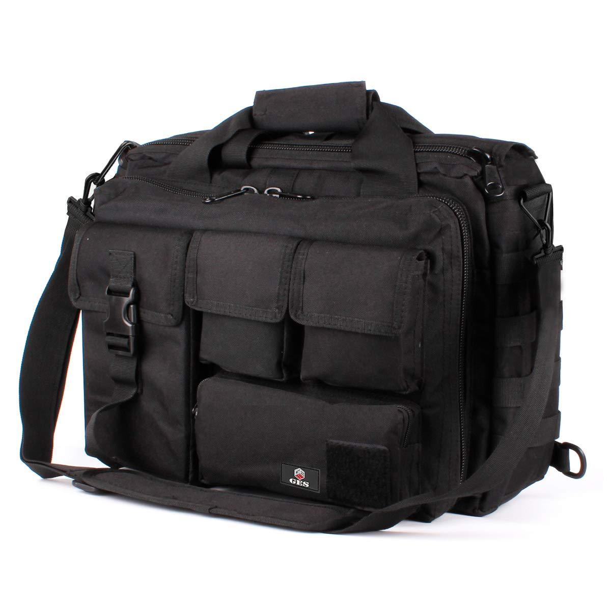 Tactical Briefcase, GES 15.6 Inch Men's Messenger Bag Military Briefcase for Men by GES