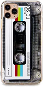 iPhone 11 Pro Max Soft Case, FAteam Matte Finish Heavy Duty Soft Back Cover with TPU Soft Bumper Retro Cassette Tape Case Compatible with iPhone 11 Pro Max-6.5 inch