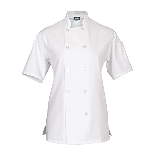 265c493a6 Amazon.com: Fame Women's Short Sleeve Chef Coat: Home & Kitchen