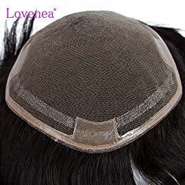 Toupee Brazilian Virgin Remy Huamn Hair Pieces For Men 1919cm Lace Hair Length 6inch 15cm Natural Black