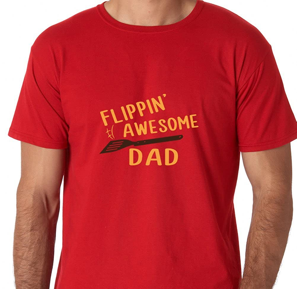 Amazon.com: AW Fashions Flippin Awesome dad - Best Dad Premium Mens T-Shirt: Clothing