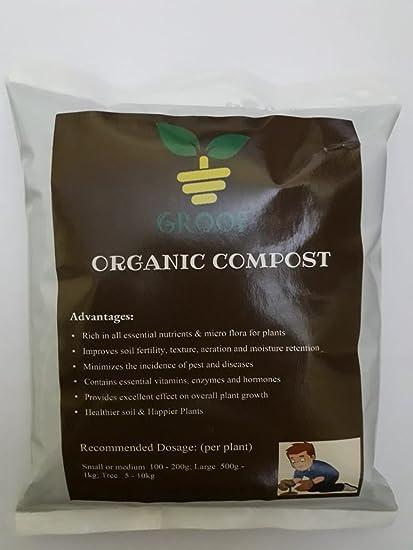 GROOF Organic Compost Black Color (1 KG)