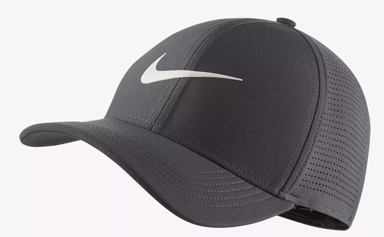 f718a9fbab5dd Nike Men's Classic 99 Fitted Golf Hat, Dark Grey, Medium/Large