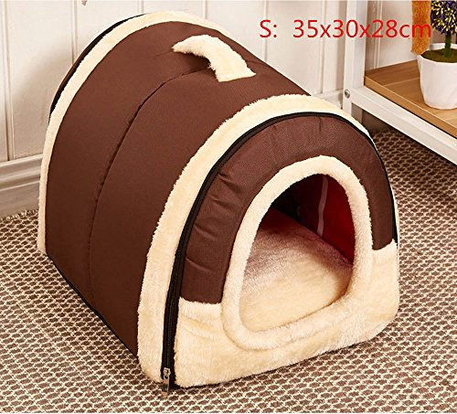 Pet Supplies Soft and Cozy Cotton Indoor Outdoor Portable Pet House Pet Bed (S/M)