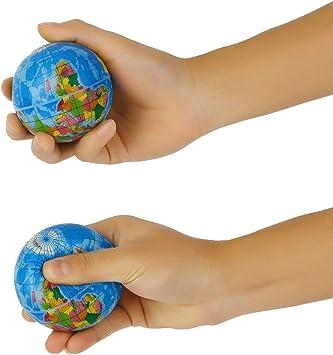 Ballylelly Mapa del Mundo Espuma Globo terráqueo Alivio del estrés ...