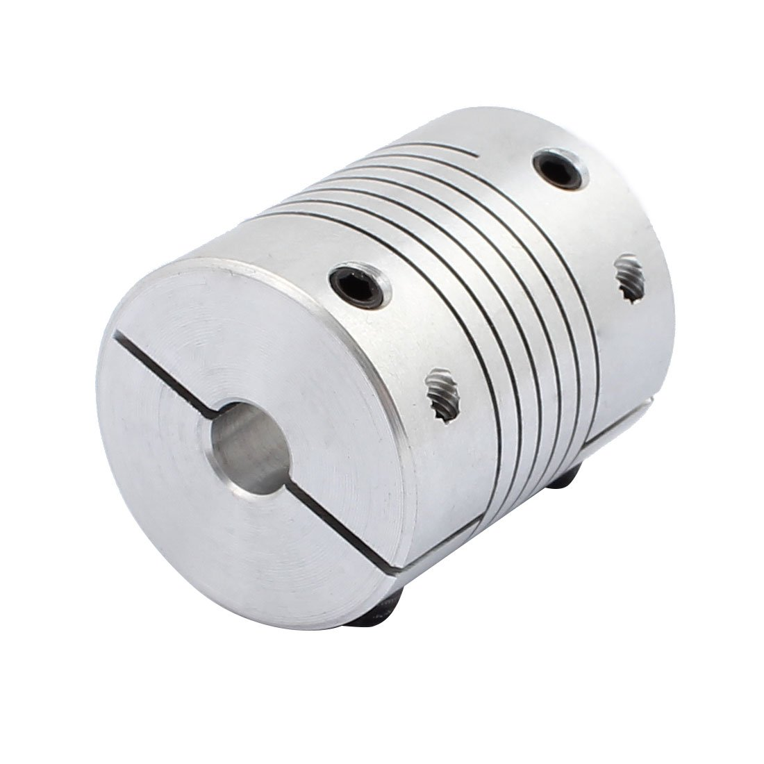 Sourcingmap 8mm to 12mm Shaft Coupling 30mm Length 25mm Diameter Stepper Motor Coupler Aluminum Alloy Joint Connector for 3D Printer CNC Machine DIY Encoder