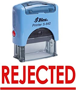 Rejected Self Inking Rubber Stamp Office Stationary Custom Shiny Stamp