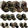 Enimay Camo Camouflage Snapback Hunting Caps (Many Variations Available)