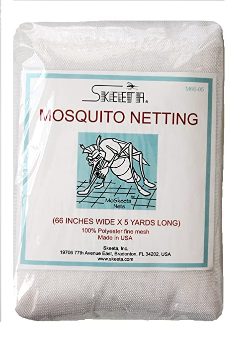 "by Skeeta Mosquito netting//net fabric mesh 66/"" wide x 10 yards black color"