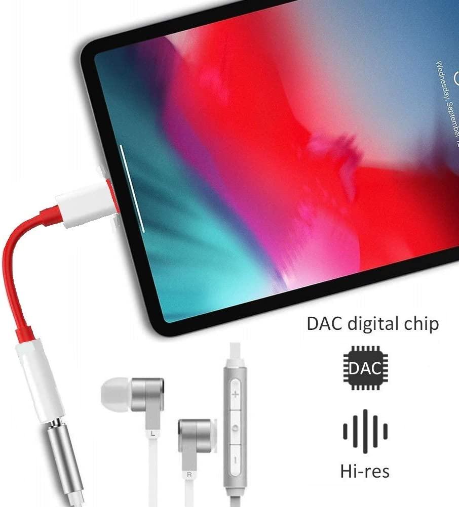 iPad Pro 2018 USB C to 3.5mm Headphone Jack Adapter with Digital Audio Type C Jack Adapter Compatible with Pixel 3//2//3XL//2XL Galaxy S9 and More USB C Devices