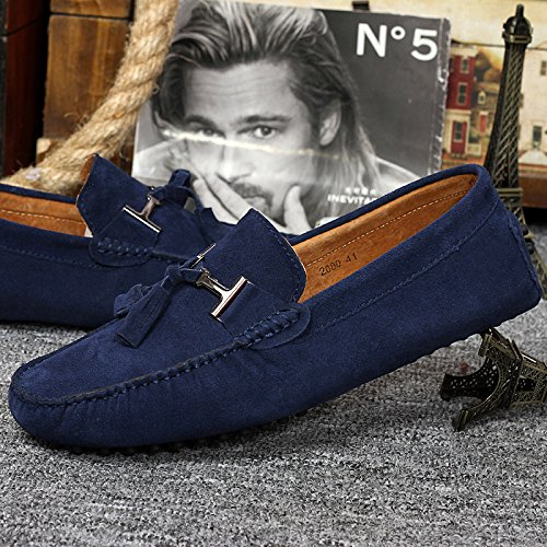 Low Loafers Casual Shoes Mens on Moccasins Top Comfy Abby Blue Sunny Leather Slip 2080 Stylish Wqg4tvF