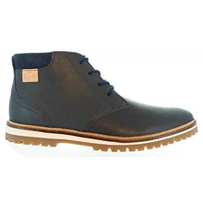 30507d789fe83e Lacoste Montbard Chukka Leather Boots Navy  Amazon.co.uk  Shoes   Bags