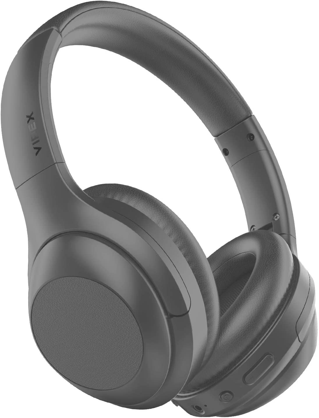 VIPEX Active Noise Cancelling Headphones, Bluetooth 5.0 Headphones Wireless Over Ear Headphones with Microphone, All Day Power with 30 Hours Playtime, Comfortable Protein Earpads (Grey)