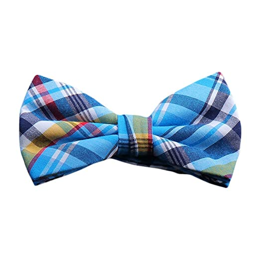 4bed4a552fa2 Image Unavailable. Image not available for. Color: BRIGHT MADRAS PLAID BOW  TIES