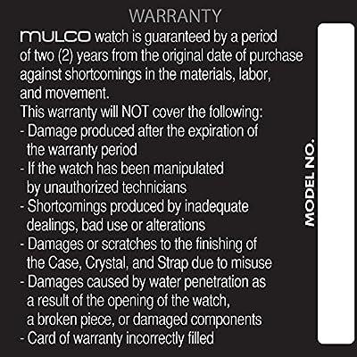 Mulco Unisex Bluemarine Glass Chronograph Swiss Movement Watch