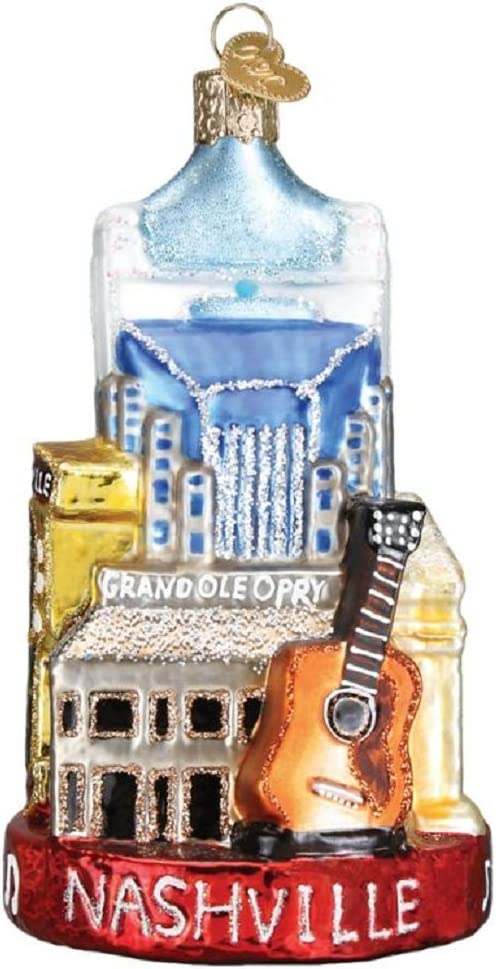 Old World Christmas Cities, Places and Landmarks Glass Blown Ornaments for Christmas Tree Nashville