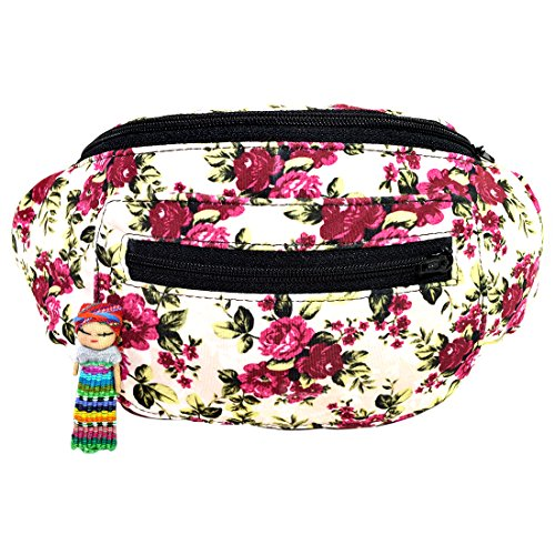 Vintage Floral Fanny Pack, Boho Chic Handmade w/Hidden Pocket (Grandma's Wallpaper) by Santa Playa