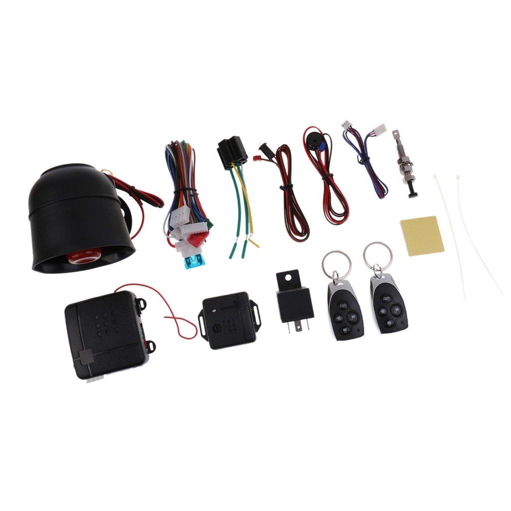 monkeyjack車アラームセキュリティシステムリモートコントロールセンサー保護警告キーレスエントリーセット B074Z3SLQS