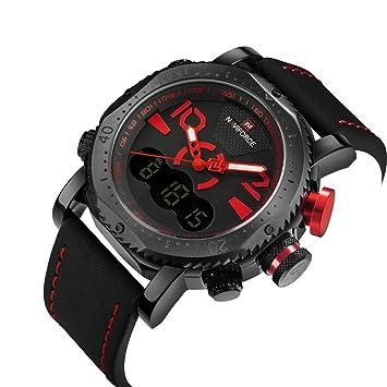 YSCCSY Hombres Relojes Deportivos Reloj De Pantalla Dual Hombres LED Relojes Analógicos Digitales De Cuarzo Electrónicos