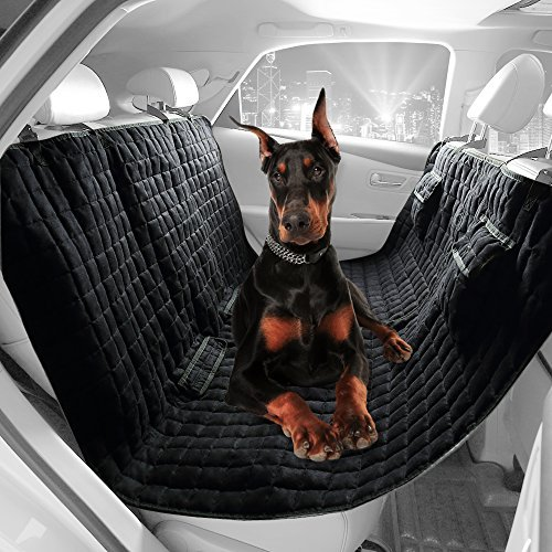 (VIEWPETS Dog Car Seat Cover Waterproof Non-slip Pet Hammock Bench Rear Seat Cover by (HAMMOCK, Microsuede 58