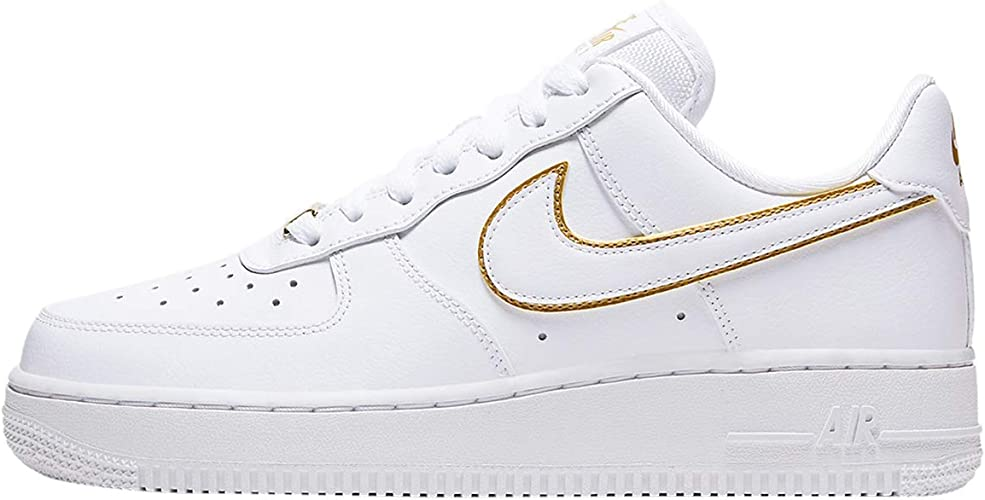 nike air force 1 07 bianche e oro