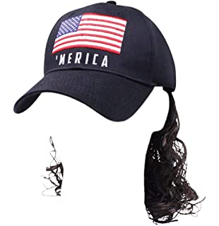 3eafeab00f9f57 Amazon.com: Hillbilly Mullet Cap With Sewn In Polyester Hair - Get ...