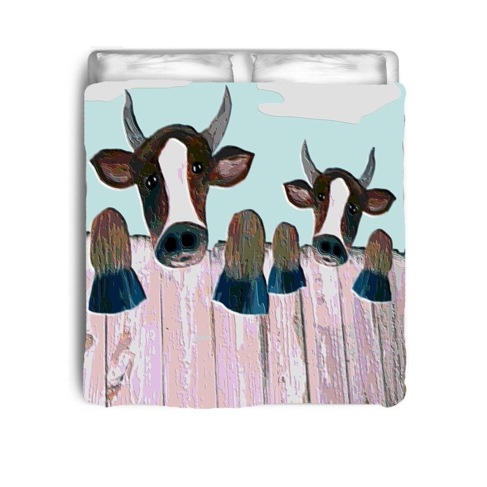 Fence Cows Art Bed Comforter From Art (42 x 58 toddler)