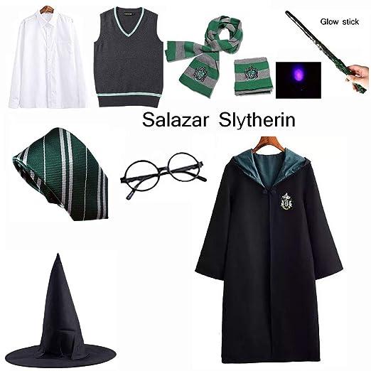 LISI Harry Potter Slytherin Disfraz Cosplay Set, Adultos Capa ...