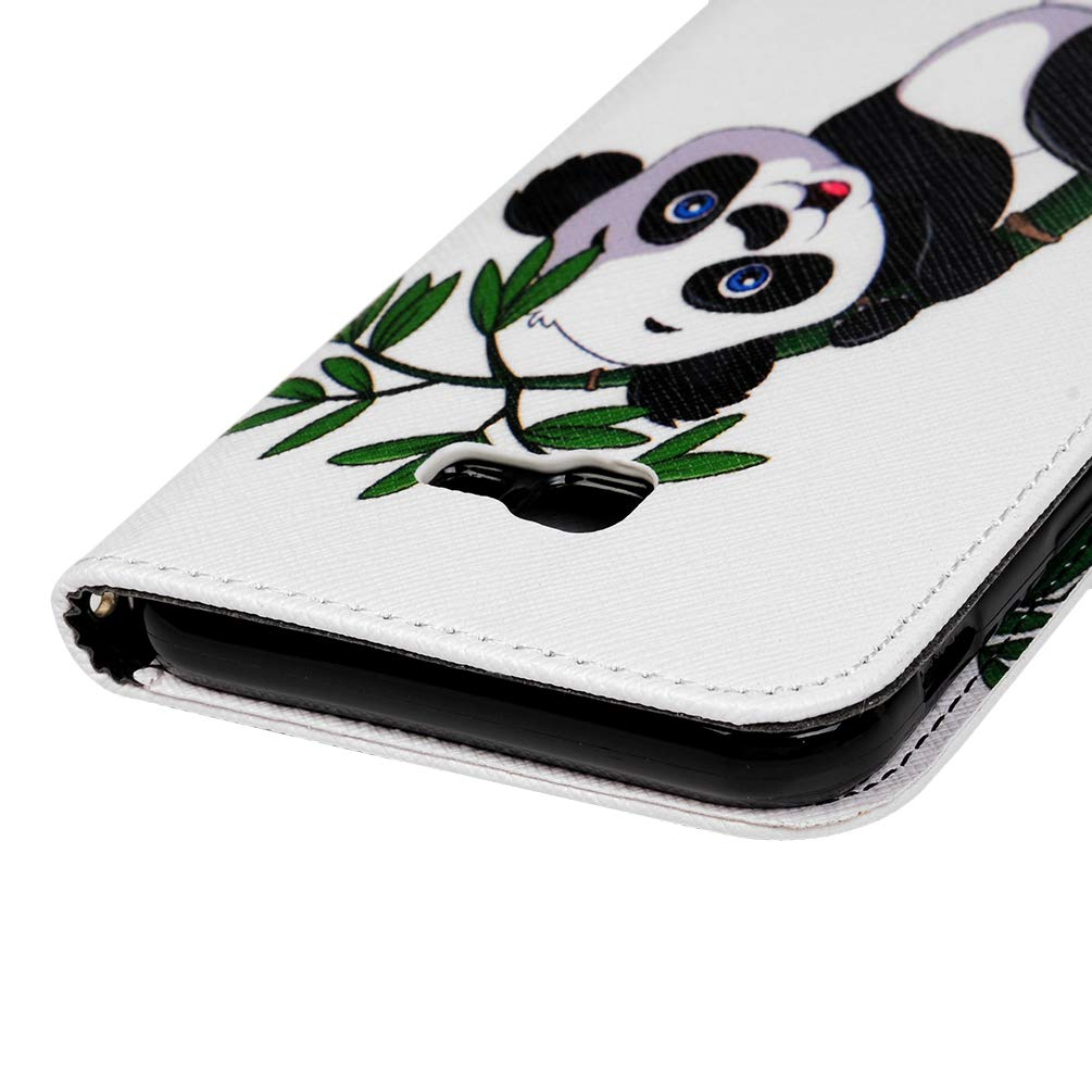 Flip Case 3D Colorful PU Leather Wallet with Magnetic Closure Stand Card Holder ID Slot Folio Soft TPU Bumper Protective Skin,Blindfolded Bear Vagenno For Samsung Galaxy J4 Plus 2018 Phone Case