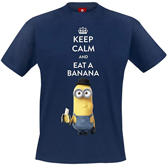 92ce9b3d0f5a4 Minions Movie - Keep Calm Homme T-Shirt - Bleu  Amazon.fr  Vêtements ...