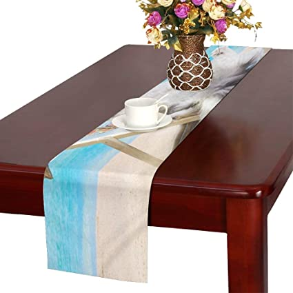 Pleasant Amazon Com Whiofe Cat Resting On Sun Lounger Table Runner Pabps2019 Chair Design Images Pabps2019Com