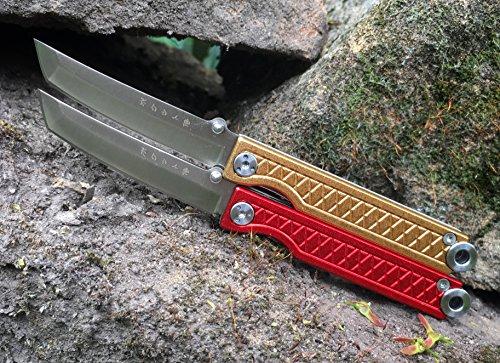 StatGear Pocket Samurai Folder Knife 2.25 in Blade Red Aluminum by StatGear (Image #7)