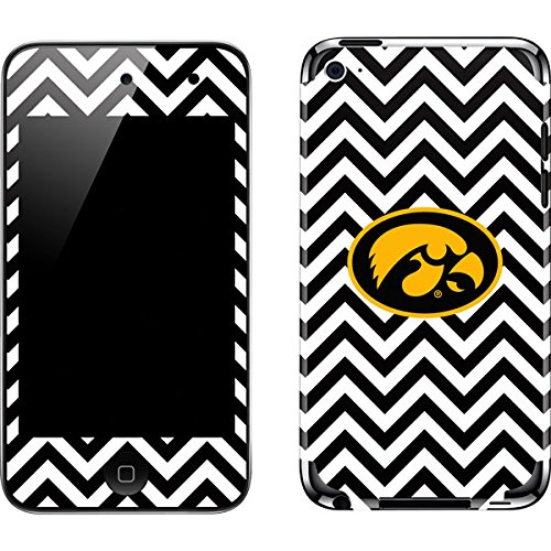University of Iowa iPod Touch (4th Gen) Skin - Iowa Hawkeyes Chevron Print Vinyl Decal Skin For Your iPod Touch (4th Gen)