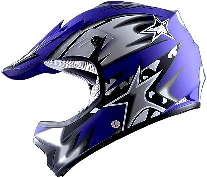 Answer NEW Mx 2018 AR-1 Yellow Blue Kids Youth Motocross Dirt Bike Helmet