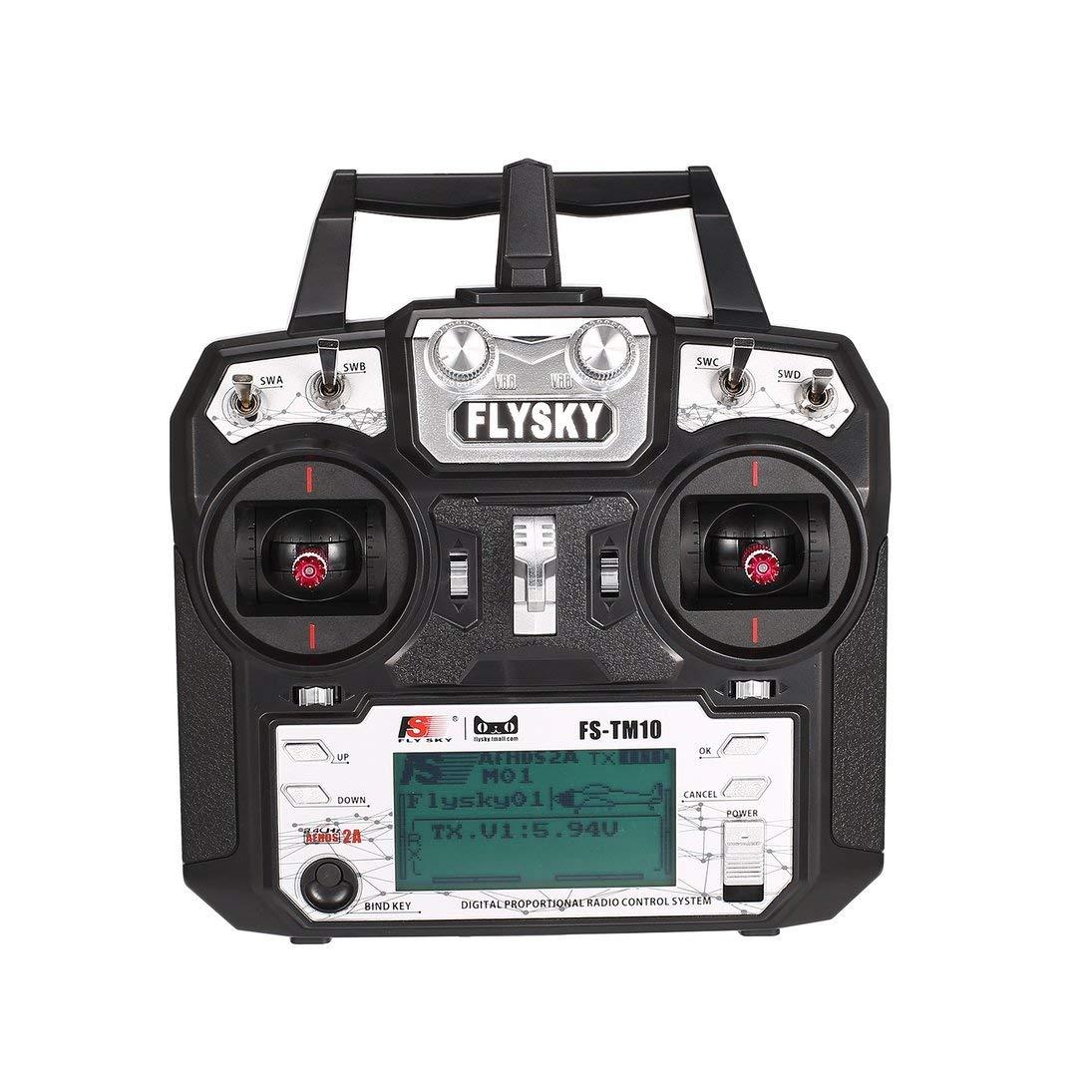 grandes precios de descuento Lordpoll-ES Flysky FS-TM10 FS-i6X FS-i6X FS-i6X 10CH 2.4GHz AFHDS RC Transmisor Modelo de Radio Sistema de Control Remoto con Receptor FS-IA10B  Centro comercial profesional integrado en línea.