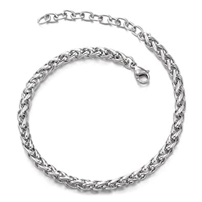 Amazon.com: Colsteland DBEYOND - Tobillera clásica de acero ...
