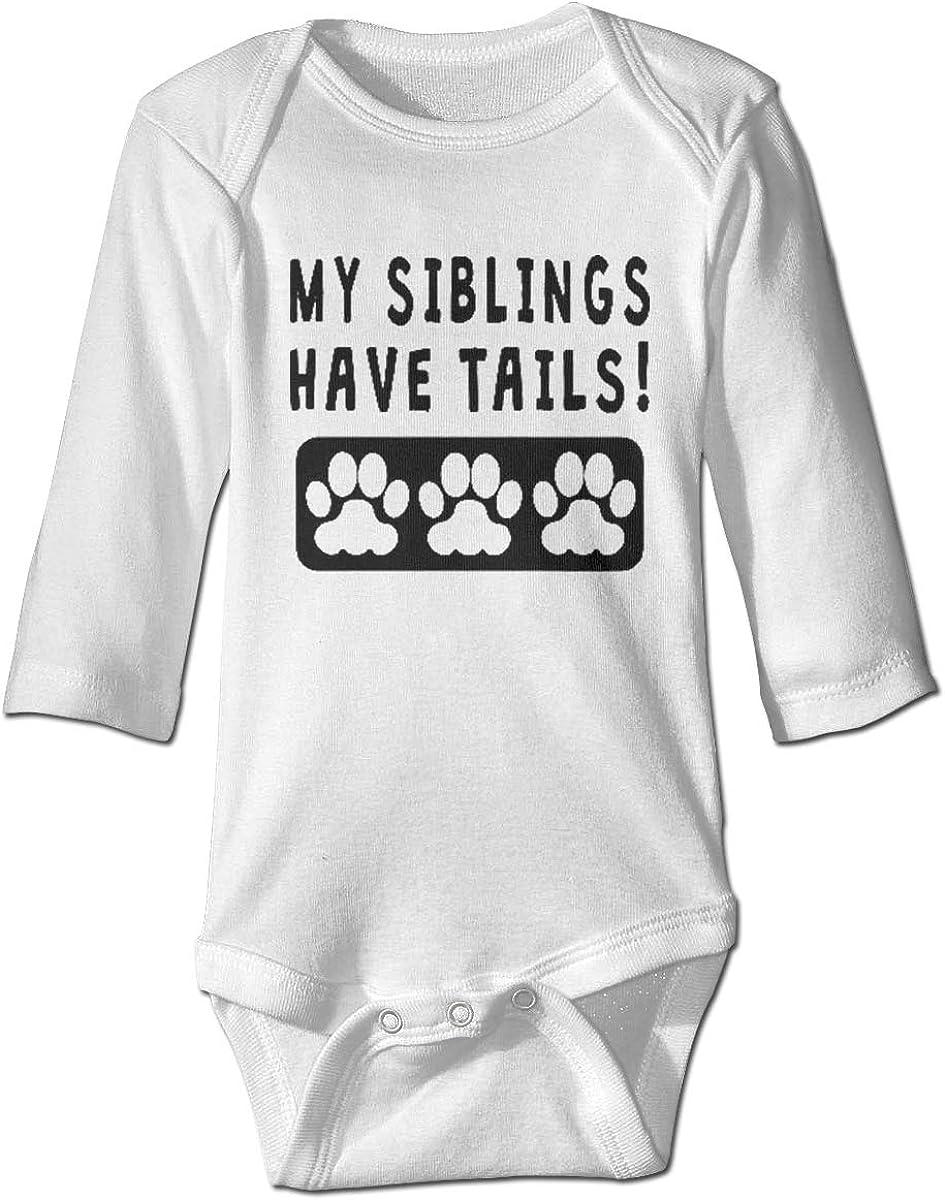 Marsherun Baby Toddler My Siblings Have Tails Long-Sleeve Bodysuit Playsuit