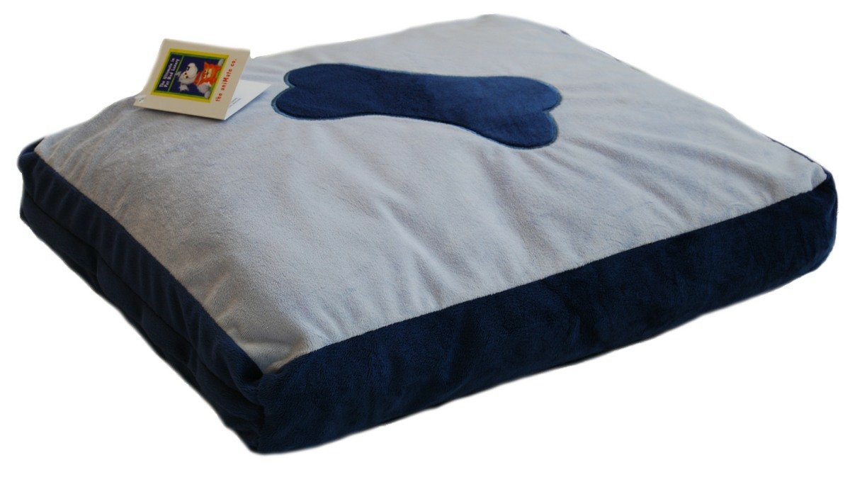 Animate Plush Fur Fibre Bed, Medium, bluee