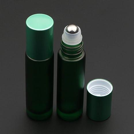 1908c478aa44 Amazon.com : Kesell 10pcs Empty Roll on Glass Bottles, 10ml 1/3 Oz ...