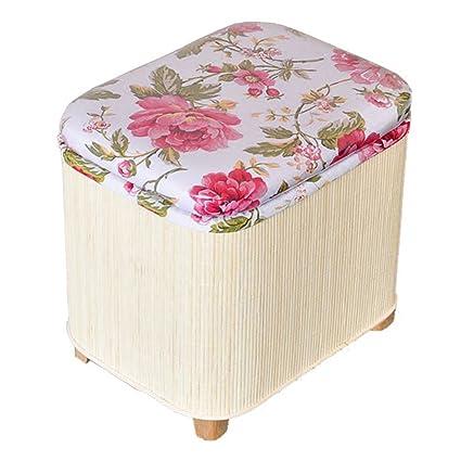 Amazon.com: RKY White Bamboo Compile Storage Stool Shoe ...