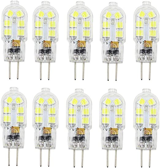 G4 LED Cob Clear Light Bulbs 2W = 20W 12V Dimmable Warm Cool White Halogen