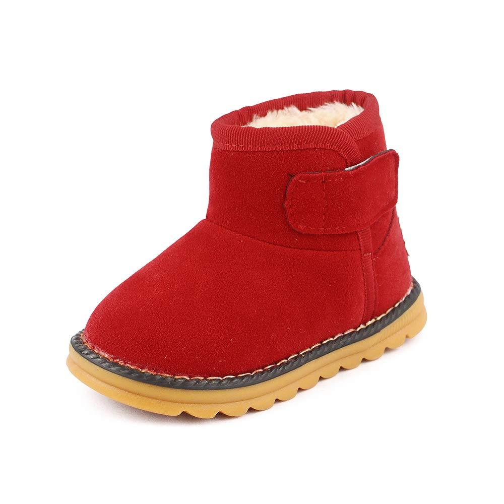 LACOFIA Baby Jungen Mä dchen Wildleder Winter Schnee Stiefel Kleinkind Gummisohle Winter Warme Schuhe